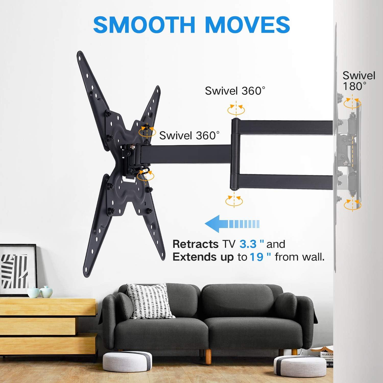 RENTLIV Full Motion TV Wall Mounts TV Bracket for Most 26-55