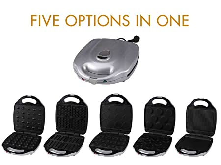 5 in1 Grill Gofrera Back dispositivo (Burger Maker, gofres y ...