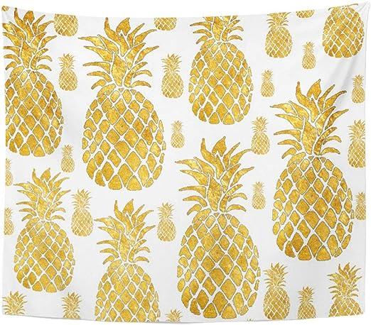 Herbs Botanicals Pineapples Hanging Kitchen Towel