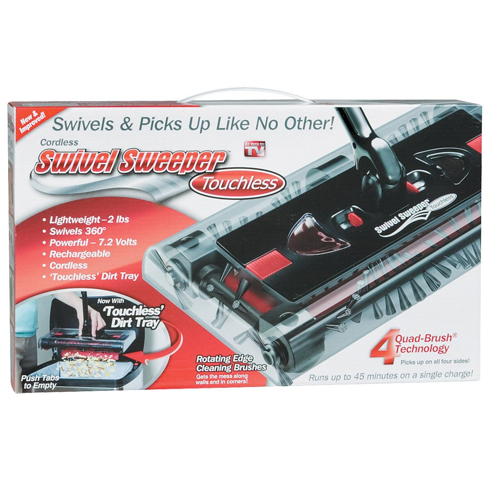 Swivel Cordless Floor and Carpet Sweeper