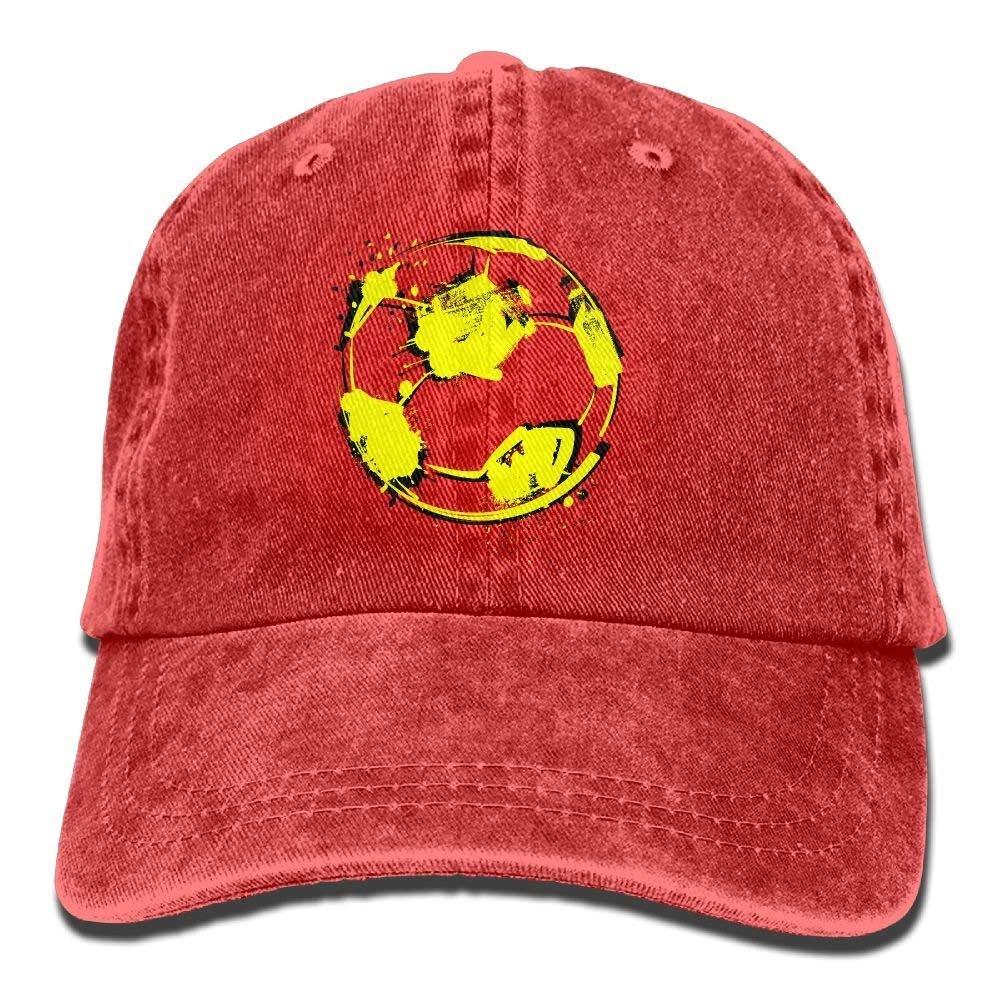 Aoliaoyudonggha Graffiti Football Unisex Adjustable Baseball Caps Denim  Hats Cowboy Sport Outdoor  Amazon.it  Abbigliamento 65cfbd9bc9b