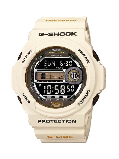 CASIO GLX-150-7ER - Reloj digital de cuarzo con correa de resina para hombre, color beige: Amazon.es: Relojes