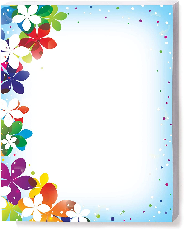 Amazon Com Vivid Flower Border Papers 100 Count Arts Crafts