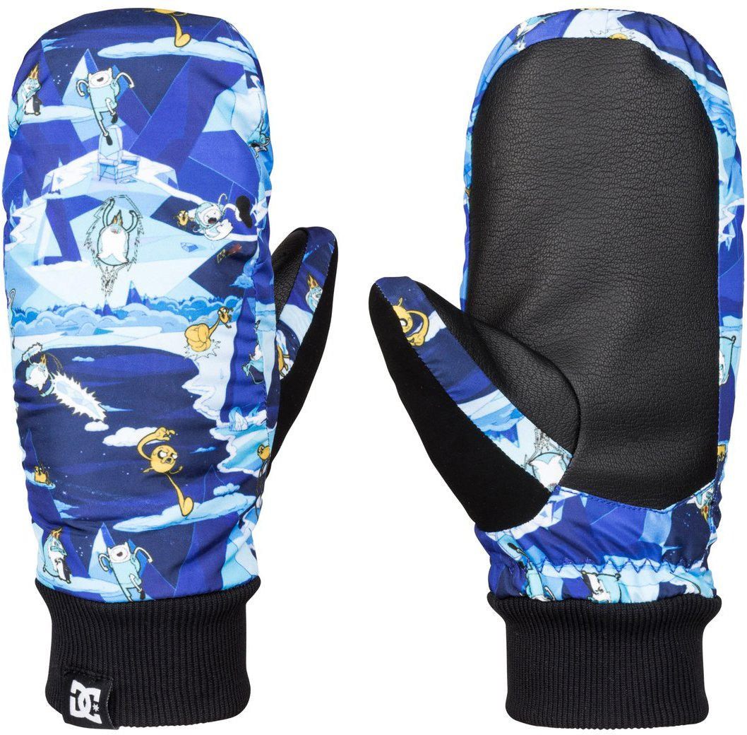 DC Shoes Mens Dc Shoes Flag - Snow Mittens - Boys 8-16 - L - Blue Adventure Time L