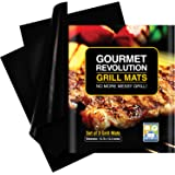 Grill Mat - Set of 3 Non Stick, Reusable and Easy to Clean Grilling Mats - BBQ Accessories For Gas, Charcoal and Electric Grills