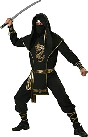 InCharacter Costumes Menu0027s Ninja Warrior Costume Black/Gold Medium  sc 1 st  Amazon.com & Amazon.com: InCharacter Costumes Menu0027s Ninja Warrior: Clothing