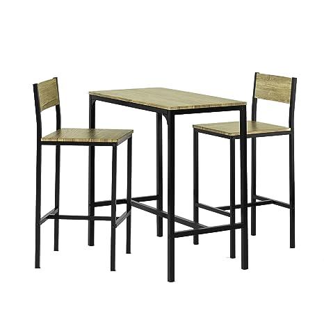 Tavoli E Sgabelli Per Bar.Sobuy Set Tavolino Bar Con 2 Sgabelli Arredo Da Giardino Tavolo Da Bar Ogt03 It