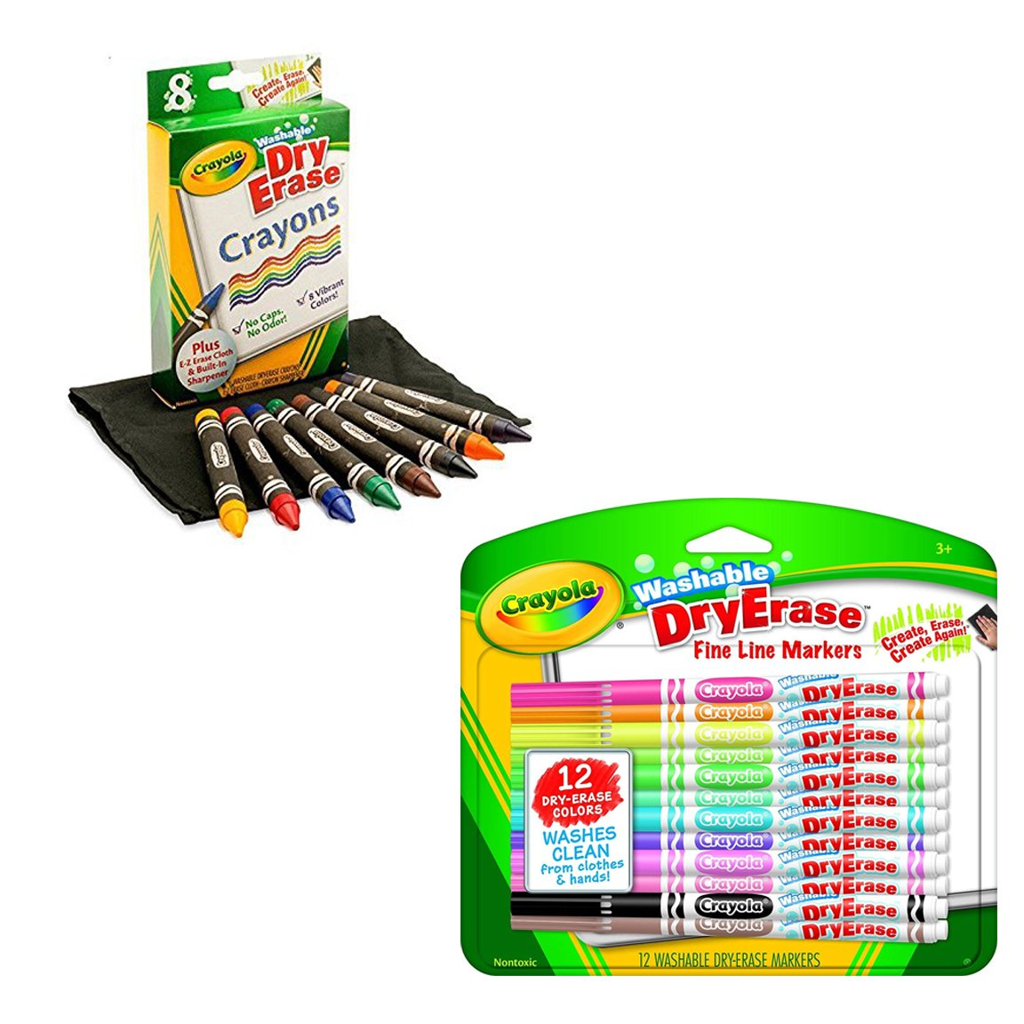 Crayola Washable Dry-Erase Markers & Dry-Erase Crayons with a CSS Coloring Book by Crayola