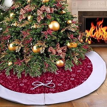 Aparty4u terciopelo faldas para árboles de Navidad 122 cm, falda para árboles de navidad tradicional