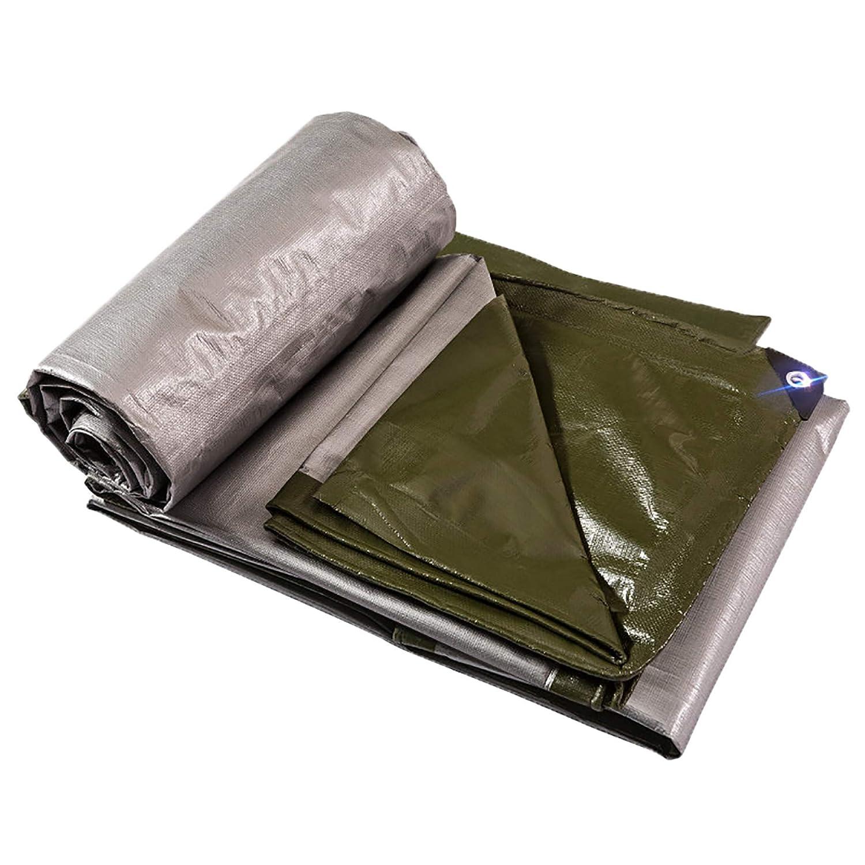HSBAIS ポリターポリン 防水カバー、防水地上テントトレーラーカバー、多目的軽量屋外タープ、ボタンホール,6x6m B07PCHGHSV  6x6m