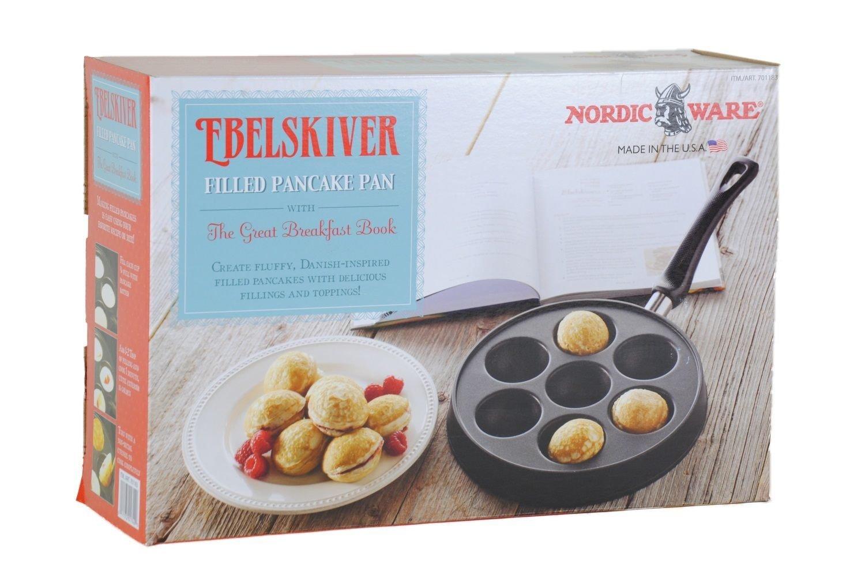 amazon com ebelskiver filled pancake pan the great breakfast
