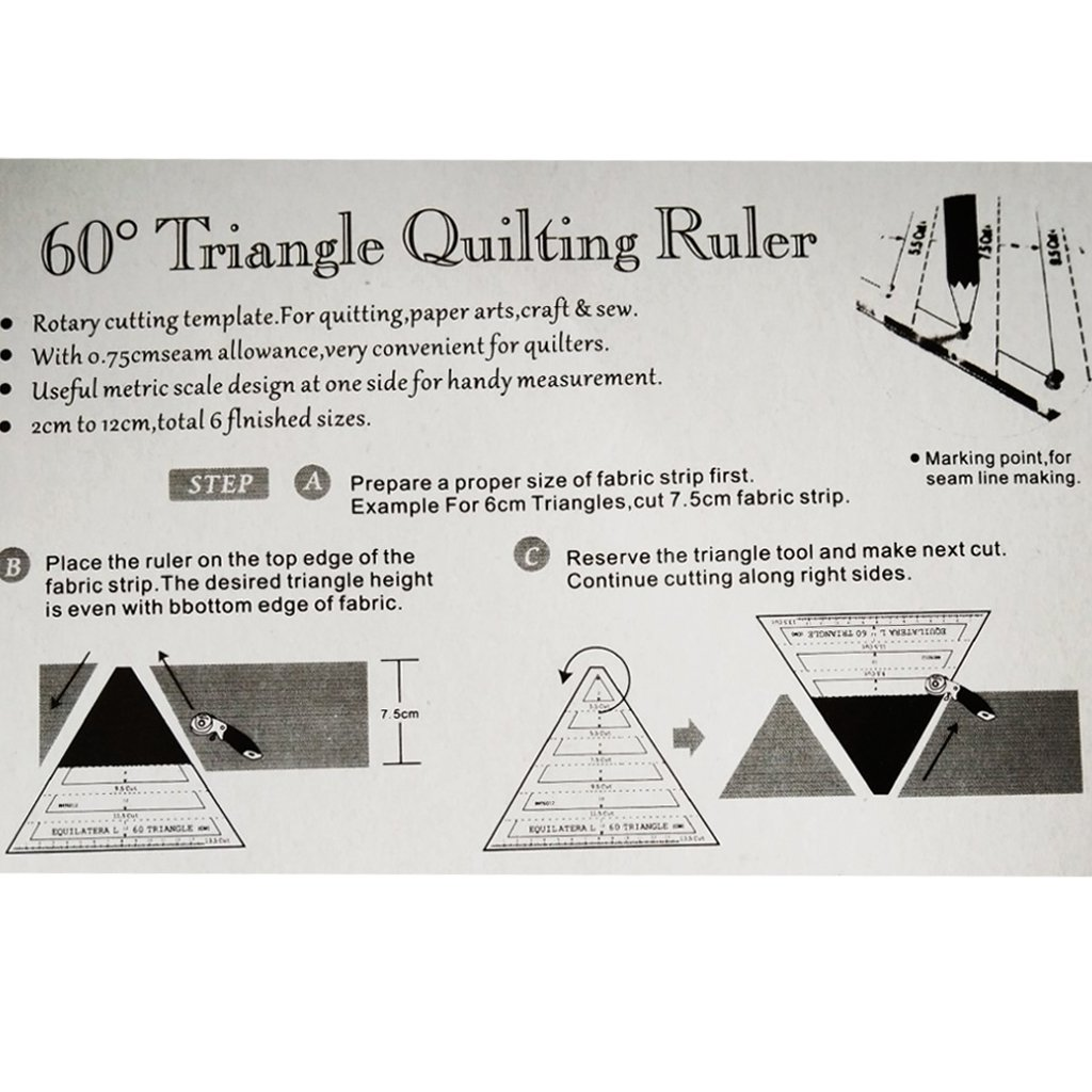 Amazon.com: Jili Online 60 Degree Equilateral Triangle Quilting ...