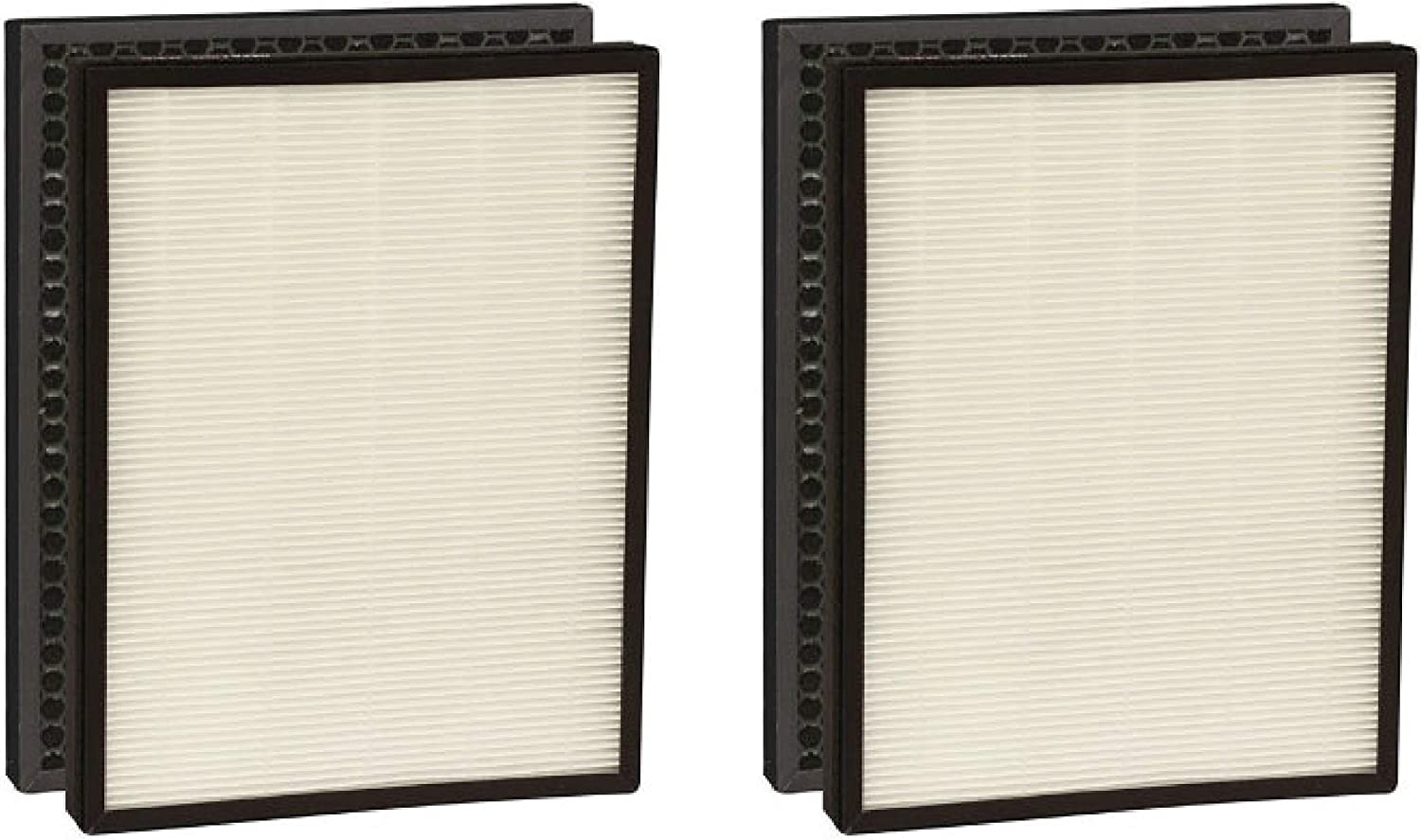 Nispira True HEPA Replacement Filter + Activated Carbon Pre Filter Compatible with Alexapure Breeze Air Purifier 3049, 2 Sets