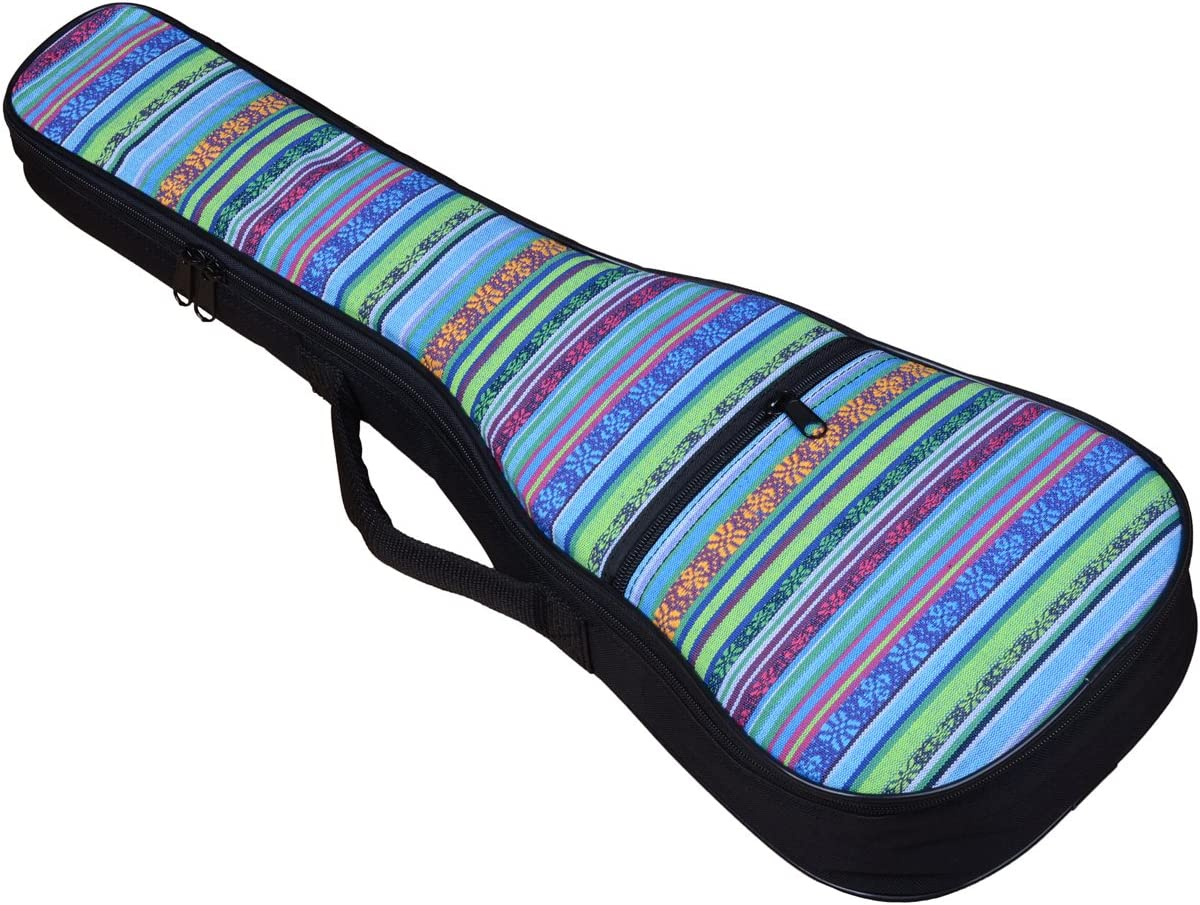21in, camouflage HOT SEAL Waterproof Durable Colorful Ukulele Cotton Case Bag with Storage