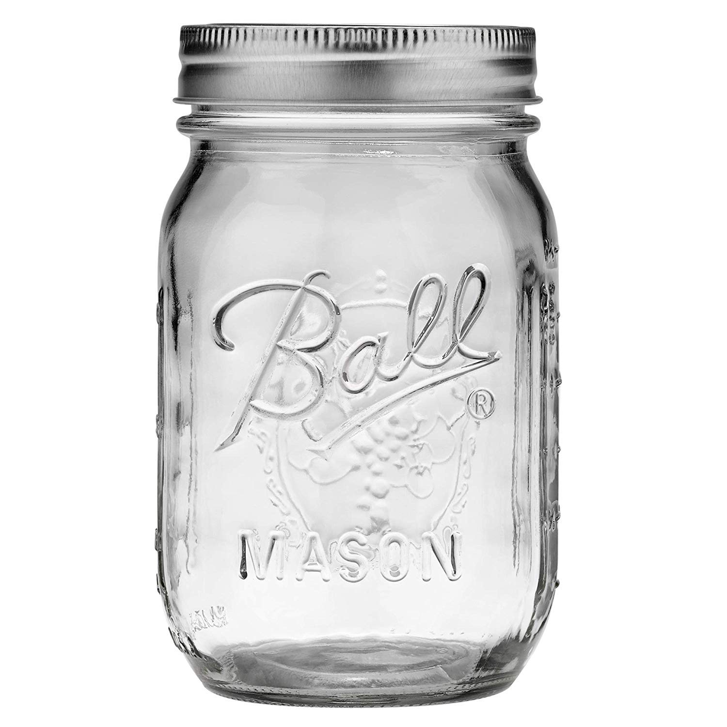 Jarden Ball Regular Mouth 16-Ounces Mason Jar with Lid and Band (24 Jars)