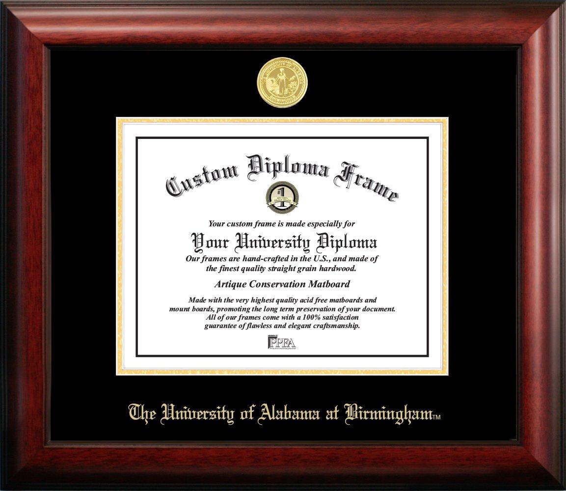 Gold 8.5 x 11 8.5 x 11 Birmingham Embossed Diploma Frame Campus Images AL995GED University of Alabama