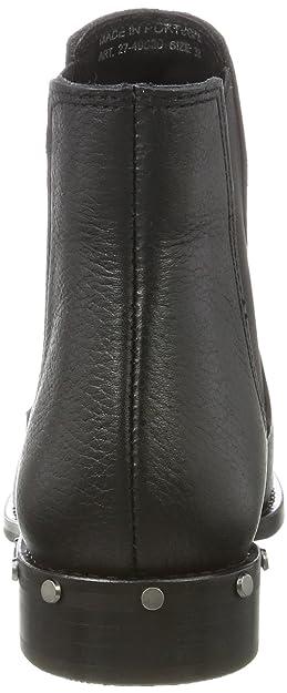 black Stivali Boot 10 Chelsea Donna 39 Stud Eu Bianco Nero 4qAvgYxn