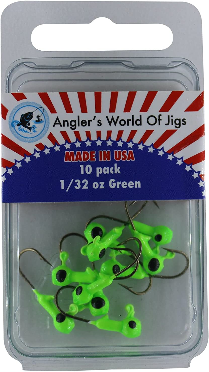FREE USA SHIPPING .. 25 ROUND FRESHWATER CRAPPIE JIG HEADS
