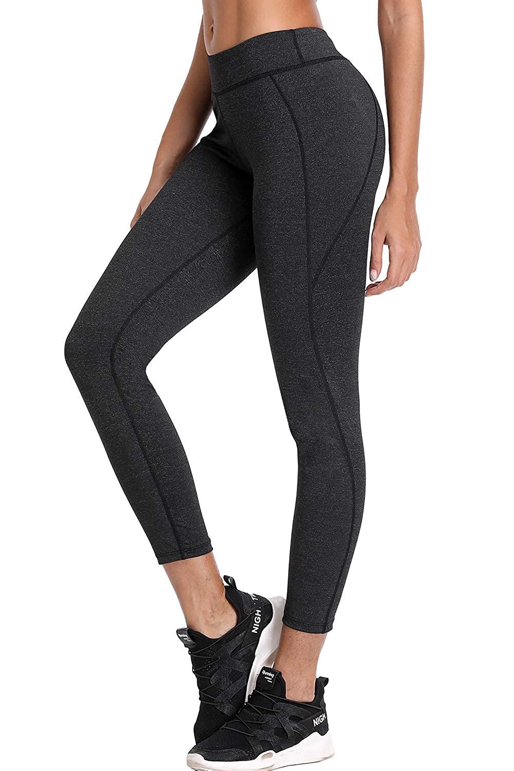 CharmLeaks Women's High Waist Yoga Pants Sport Leggings Workout Running Tights