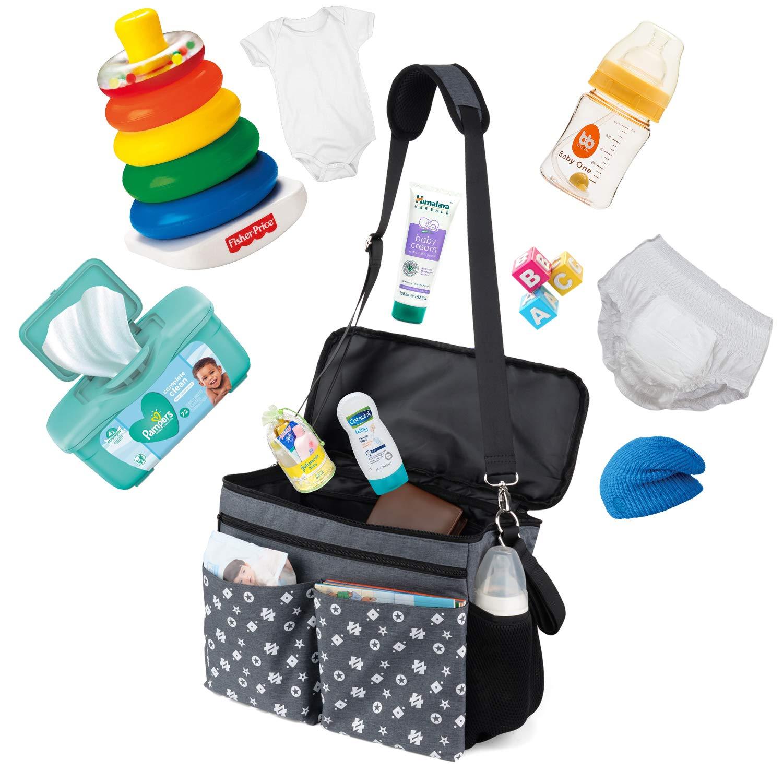 Large Baby Stroller Organizer Diaper Bag with Extra Storage, Easy Installation, Bottle Holders, Shoulder Strap for Stroller Like Uppababy, Baby Jogger, Britax, Bugaboo, BOB, Umbrella & Pet Stroller by Jenleestar (Image #5)