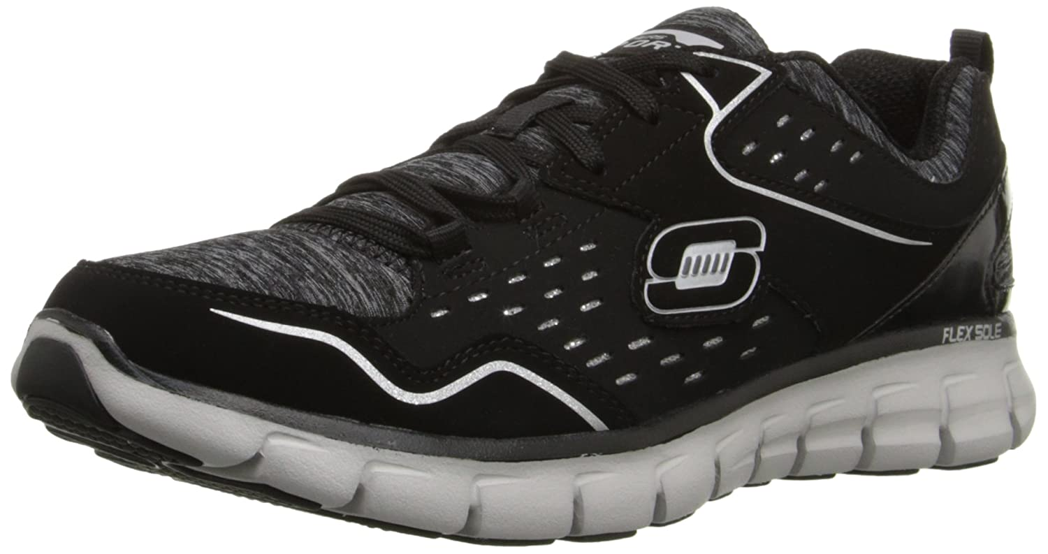 Skechers Sport Women's Synergy A Lister Fashion Sneaker B014GQC2IQ 6.5 B(M) US|Black/White