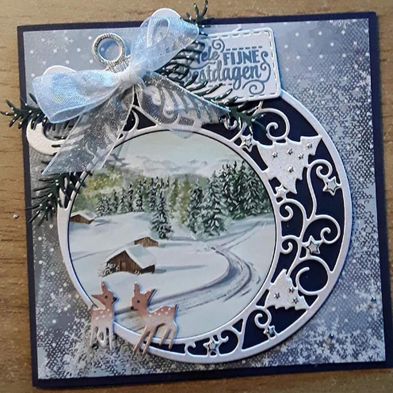 RITER Christmas Winter Metal Dies Cut for Card Making Stencil YScrapbooking Album Stamp Paper Card Embossing Dies