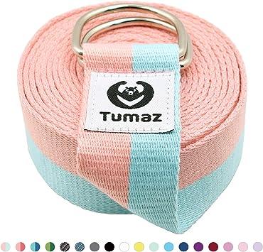 Amazon.com: Tumaz - Correa elástica para yoga con hebilla ...