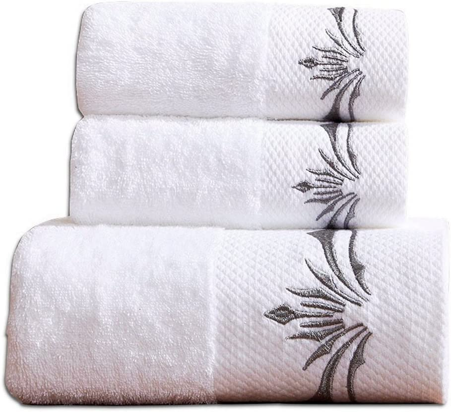 WDTBFY Premium Cotton Towel Set 900 Gram;1 Large Bath Towels,1 Hand Towel & 1 Washcloth,Luxury Bathroom Super Soft and Highly Absorbent,Hotel & Spa Quality