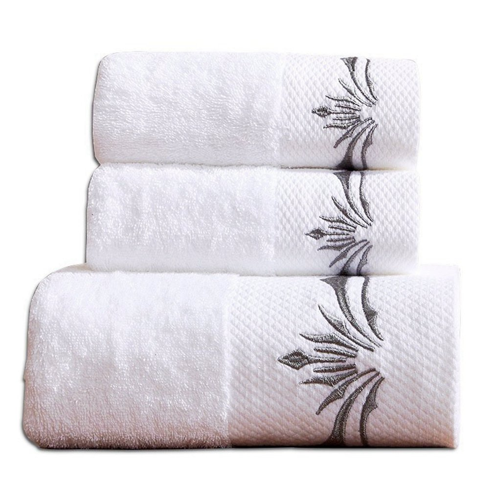 Luxury Hotel Cotton 900 GSM 3PCS Bath Towels Sets;1 Large Bath Towel, 1 Hand Towel & 1 Washcloth Sunshinejing COMIN18JU085995