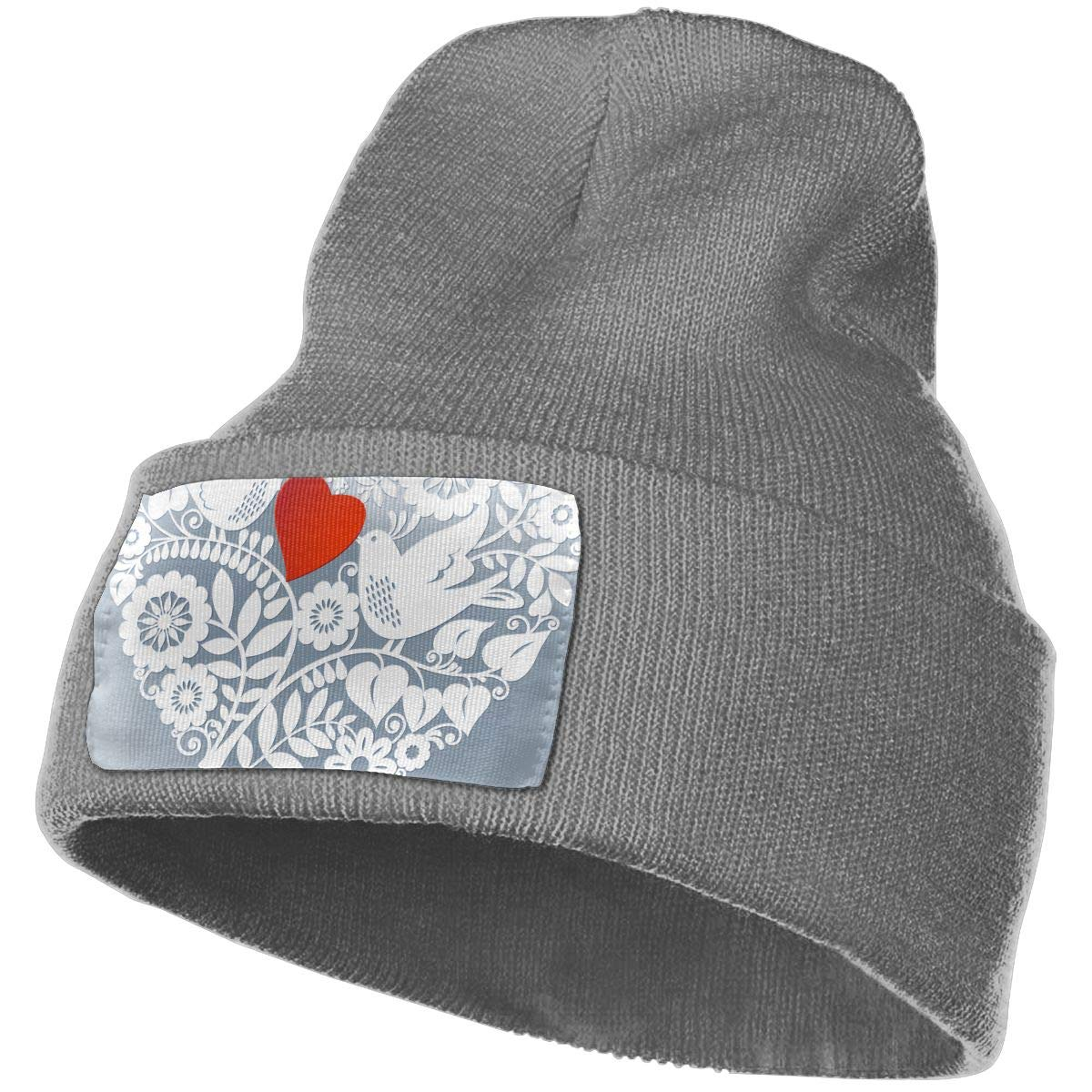 Two Loving Birds are Beautiful Lace Unisex Fashion Knitted Hat Luxury Hip-Hop Cap