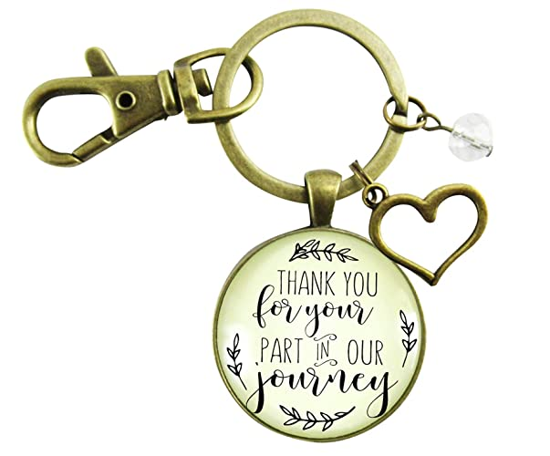 Amazon Wedding Officiant Gift Keychain Thank You For Your Part