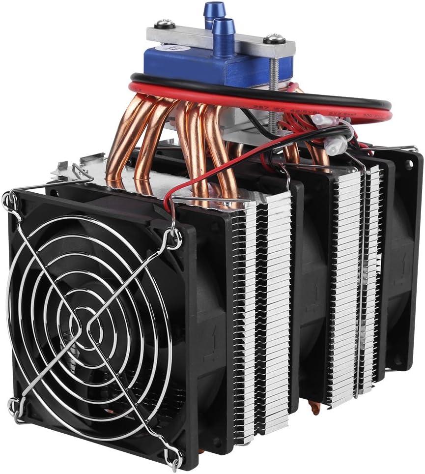 Hilitand DC 12V Refrigerador termoeléctrico de Agua de refrigeración por semiconductor del Sistema Peltier Refrigerador para Tanque de Peces (180W (para 40LTanque))
