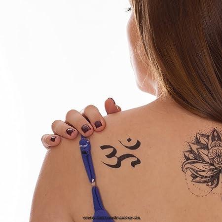 2 x Om Tatuaje - Om Aum Símbolo Shiva Buda India (2): Amazon.es: Hogar