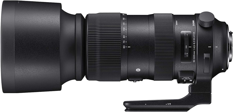 Sigma F4.5-6.3 DG OS HSM Sport - Teleobjetivo Zoom 60-600 mm para Canon, Color Negro