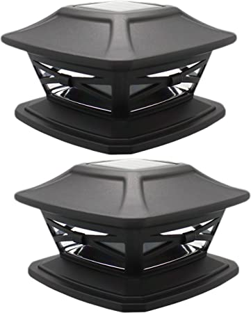 front facing davinci flexfit solar post cap lights