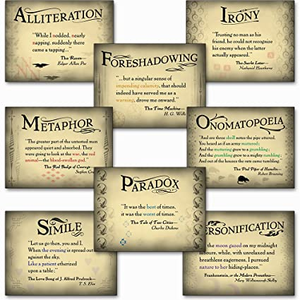 Amazoncom Literary Tools Set Of Eight Literary Arts Posters