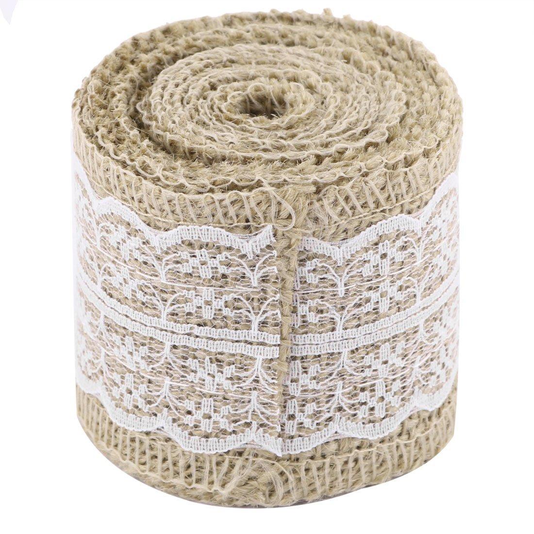 Amazon.com: Silla Vestido de Fiesta de la boda de lino eDealMax la Torta decoración de la caja DIY de la Cinta de costura Rollo 2.3 yardas Blanca: Health ...