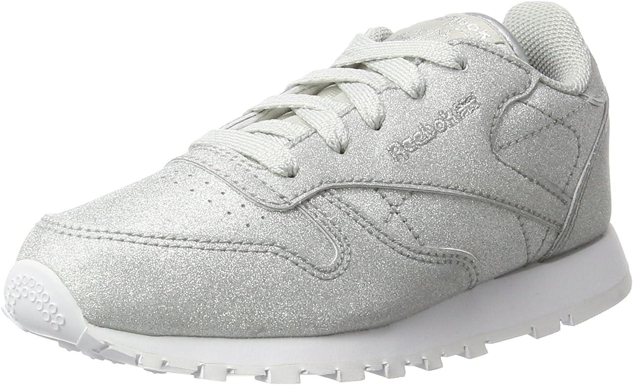 Reebok Cl Lthr Syn, Zapatillas de Running para Niñas, Plateado (Diamond Silver Met/Snow Grey/White), 28 EU: Amazon.es: Zapatos y complementos