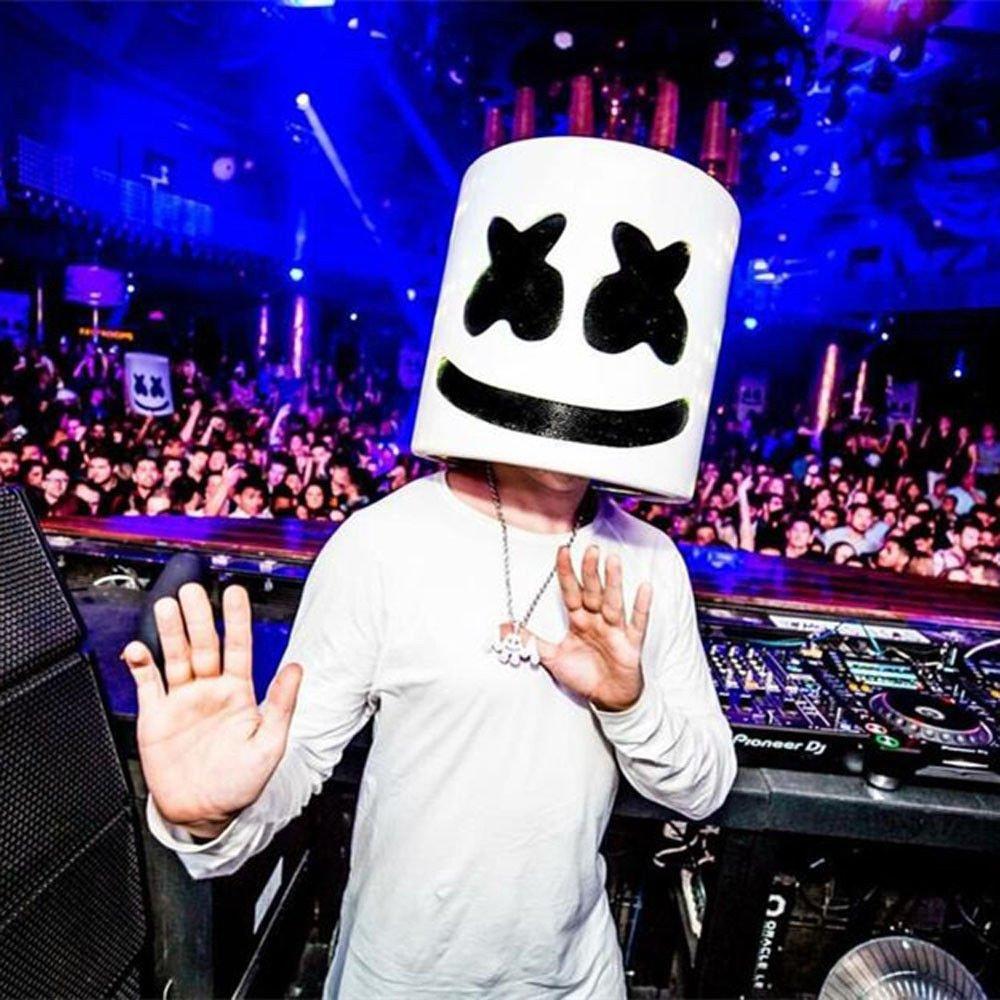 unbrand DJ Marshmello Máscara Cosplay Traje Casco Completo Cabeza Látex Máscara Disfraz para Adulto Accesorios de Halloween Mercancía: Amazon.es: Productos ...