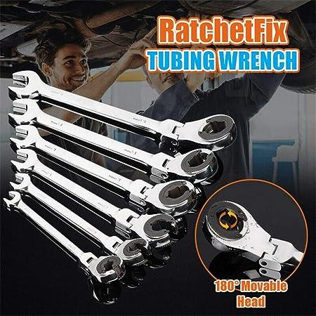 Tête Fixe Clé Set Ratcheting Combinaison Clé Poignée Outils de réparation 8-19 mm