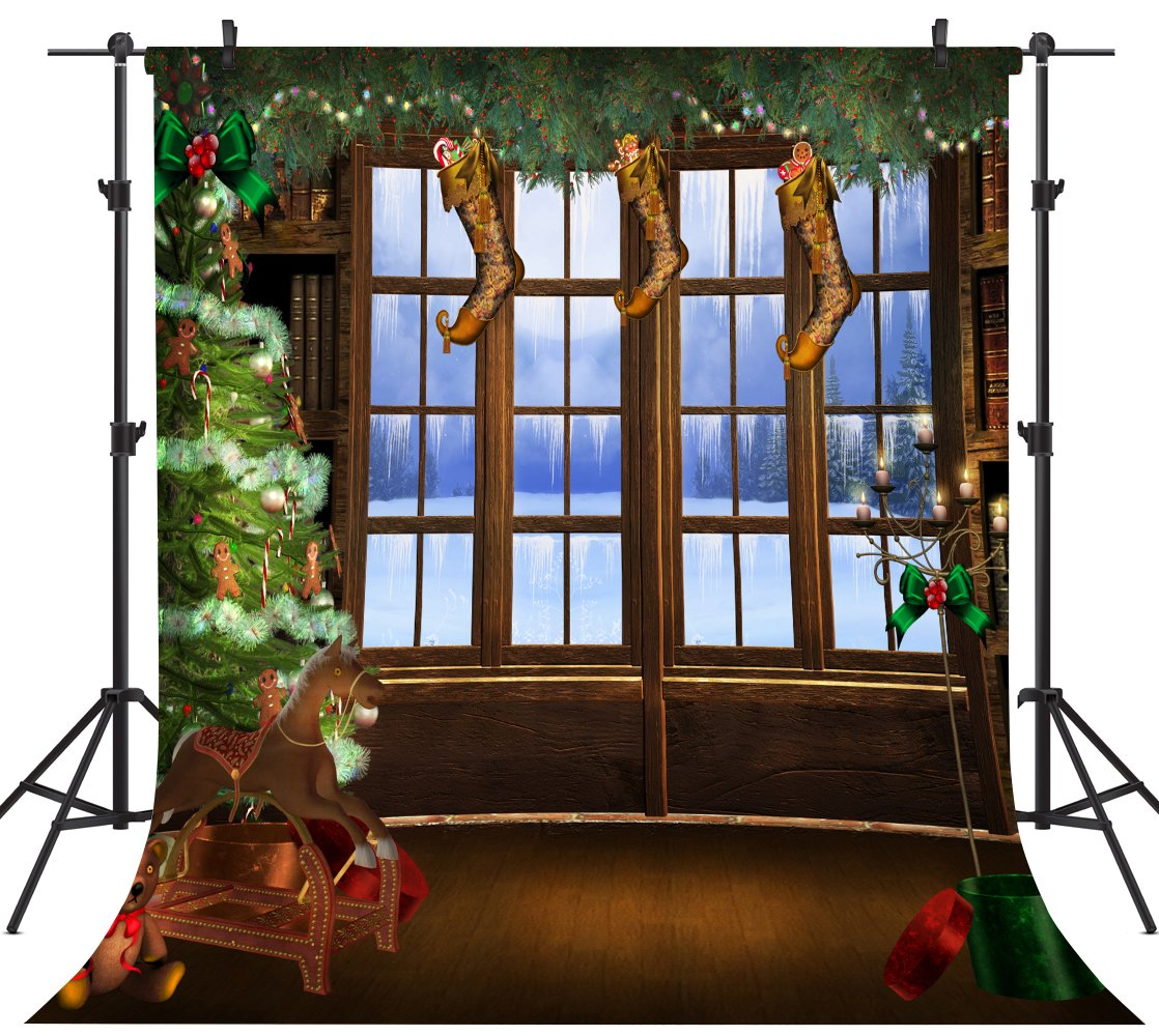 Ouyida Christmas theme 8' x 8' CP Pictorial cloth Photography Background Computer-Printed Vinyl Backdrop TP14