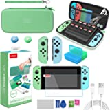 FANPL Switch Accessories Bundle, 12 in 1 Accessories kit for Nintendo Switch with Carrying Case, Silicone protective case for