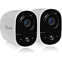 TOUCAN Rechargeable Battery-Powered Wireless Outdoor Security Camera with Alexa Support (2 Camera)