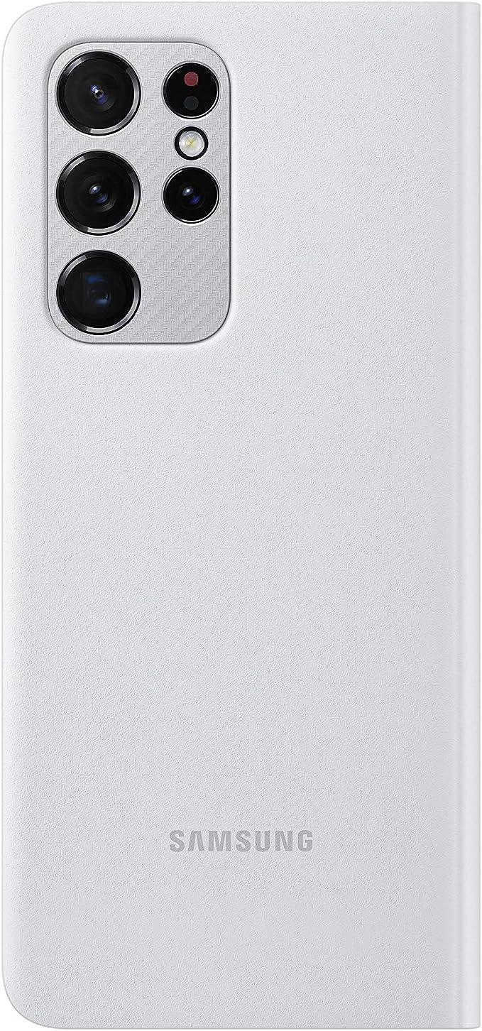 Samsung Clear View Cover Ef Zg998 Für Galaxy S21 Ultra 5g Light Gray Elektronik