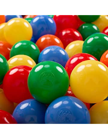 KiddyMoon 200 ∅ 7Cm Bolas Colores De Plástico para Piscina Certificadas para Niños, Amarillo Verde