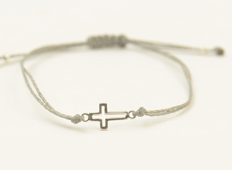 0f6c191b3ea2f Sterling silver cross charm bracelet.Mens or women gift.unisex cross  bracelet