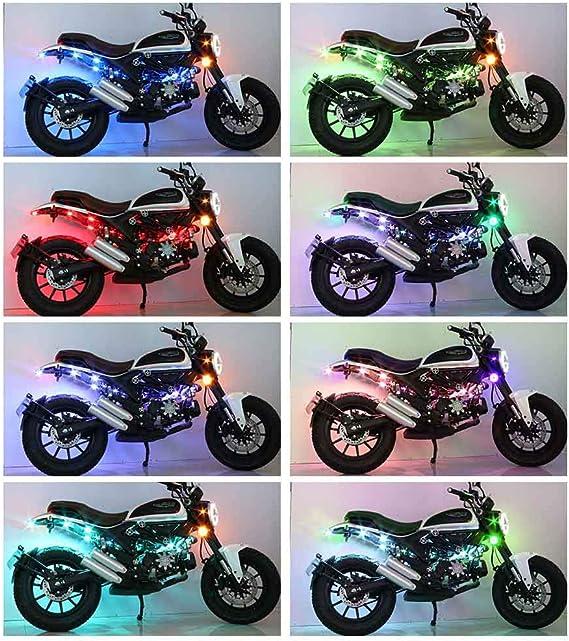 Mogoi Motorrad Led Leuchten Kit Rgb Led Lichtstreifen Multi Color Akzent Glow Neon Atmosphäre Lichter Lampe Mit Drahtloser Fernbedienung Für Harley Davidson Suzuki Bmw Küche Haushalt