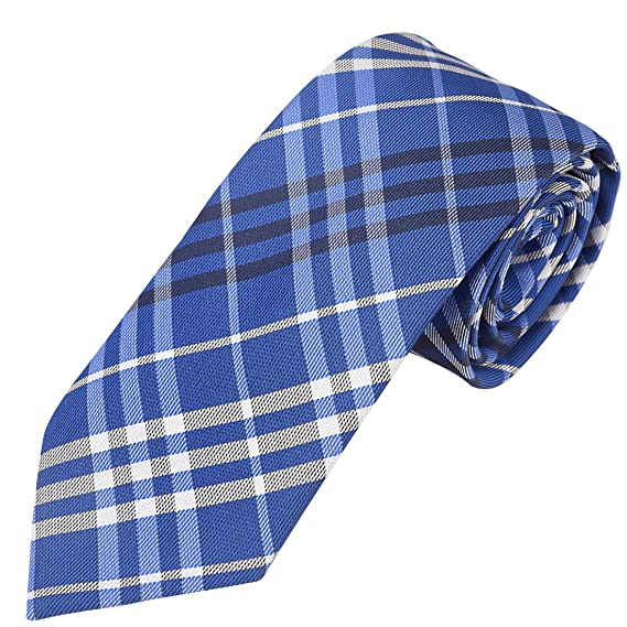 1fec252559d6 Exotica Fashion 100% Micro Silk Poly Cotton Neck Tie in Blue Color with  Matching Hanky for Men s at Party Wear.  Amazon.in  Clothing   Accessories