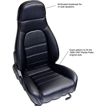 Amazon mazda miata front seat cover kit for 1990 1996 mazda miata front seat cover kit for 1990 1996 standard seats black simulated leather solutioingenieria Image collections