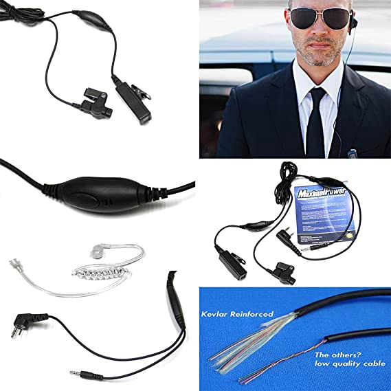 100 PAIRS Replacement ear bud for Two Way Radio acoustic tube earpiece CRYSTAL